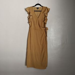 [WHO WHAT WEAR] Wrap Midi Dress Silky Camel Target